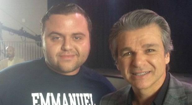 Jeffrey McCall with Jentezen Franklin
