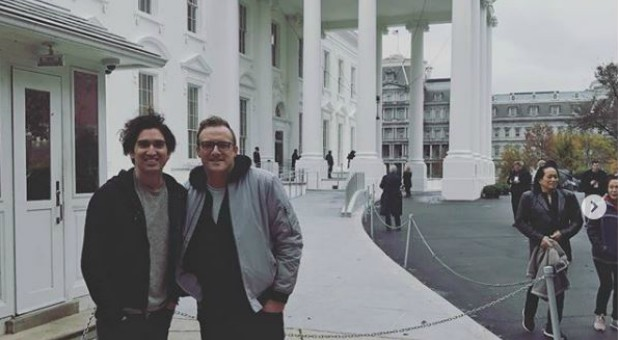 Sanctus Real outside the White House