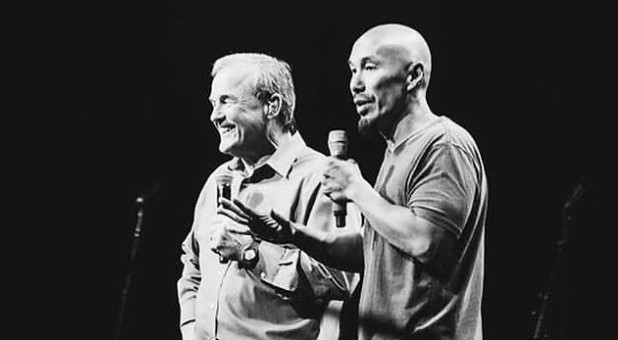 Mike Bickle, left, with Francis Chan