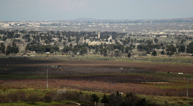 A general view of the Israeli-Syrian border is seen from the Israeli-occupied Golan Heights.