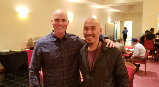 Shane Idleman, left, with Francis Chan.
