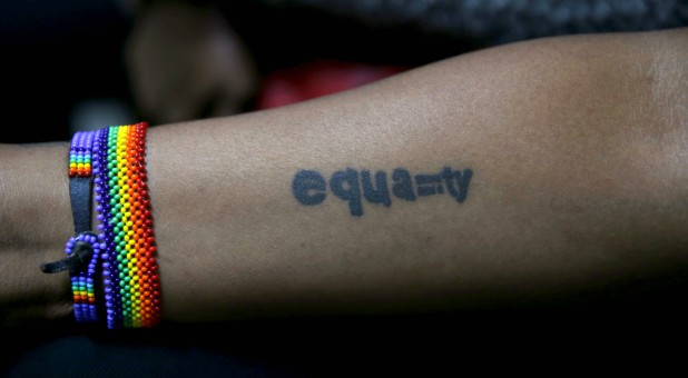 A tattoo of an LGBT activist