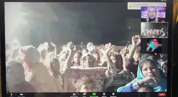 Dr. Candice Smithyman ministers in Raiwind, Pakistan, via Zoom, Oct. 18, 2020.