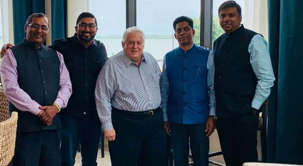 David Shibley with a group of church leaders from India whom he helped train